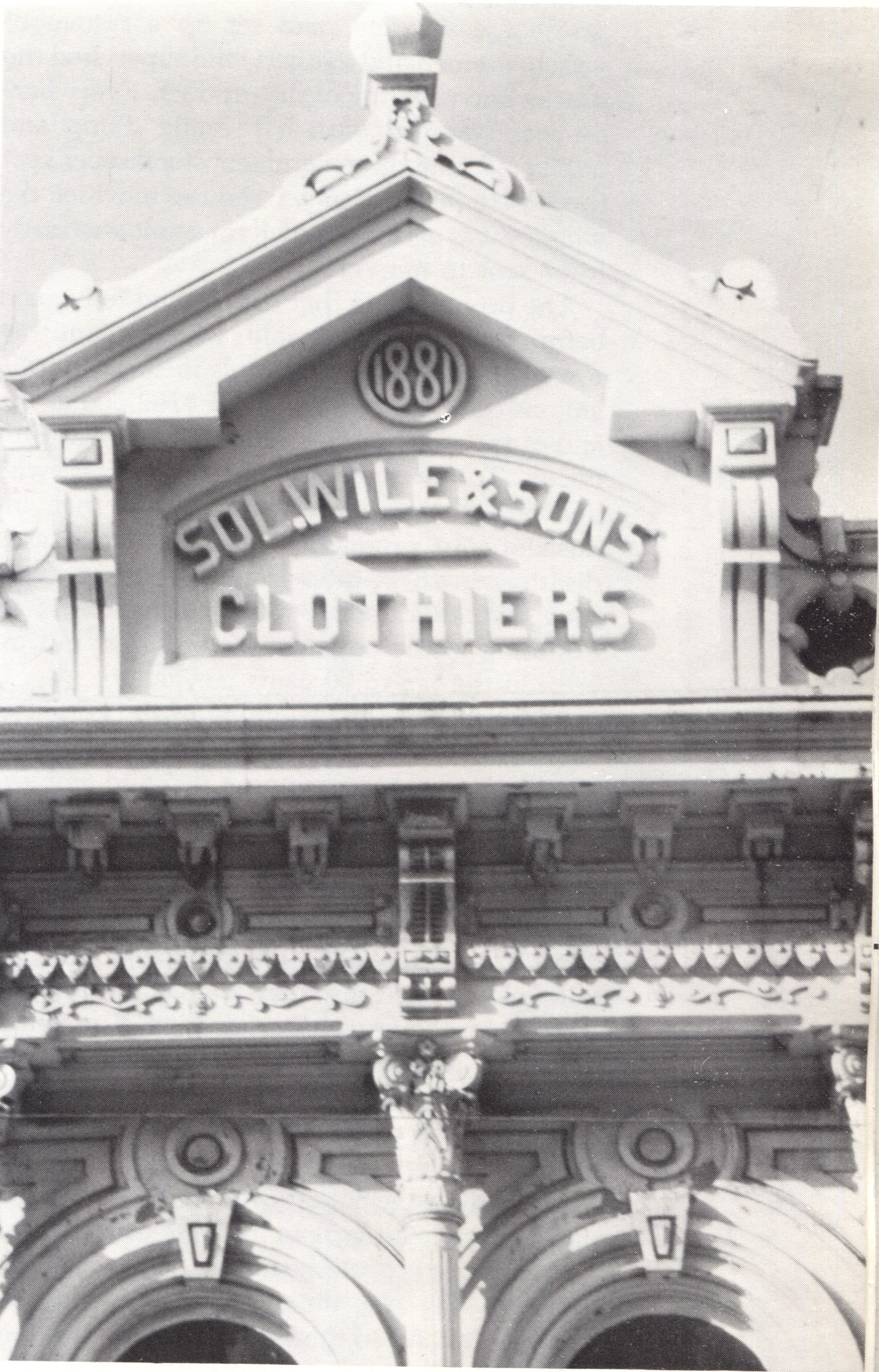 Iron Front of Solomon Wile & Sons Clothiers Building